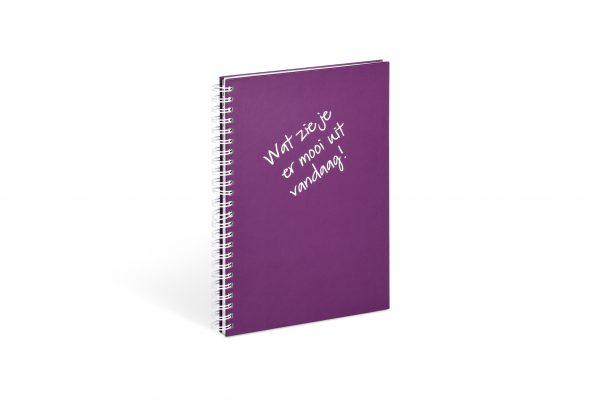 spiraalblok, wire-o notebook, wire-o schrijfblok, wire-o schrijfblok bedrukken, wire-o notebook met bedrukking