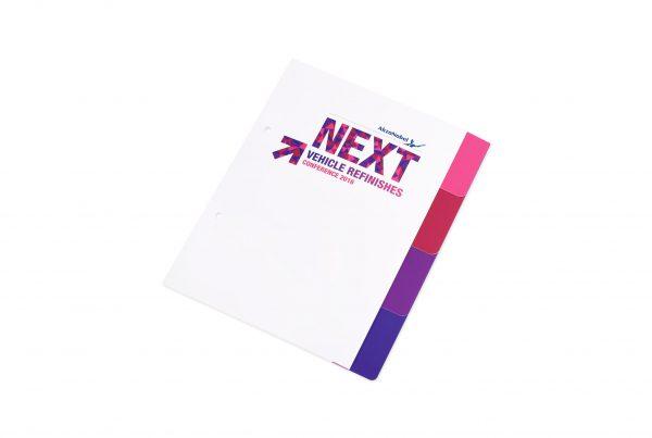 bedrukte kartonnen tabbladen, full colour bedrukte tabbladen, tabbladen met bedrukking